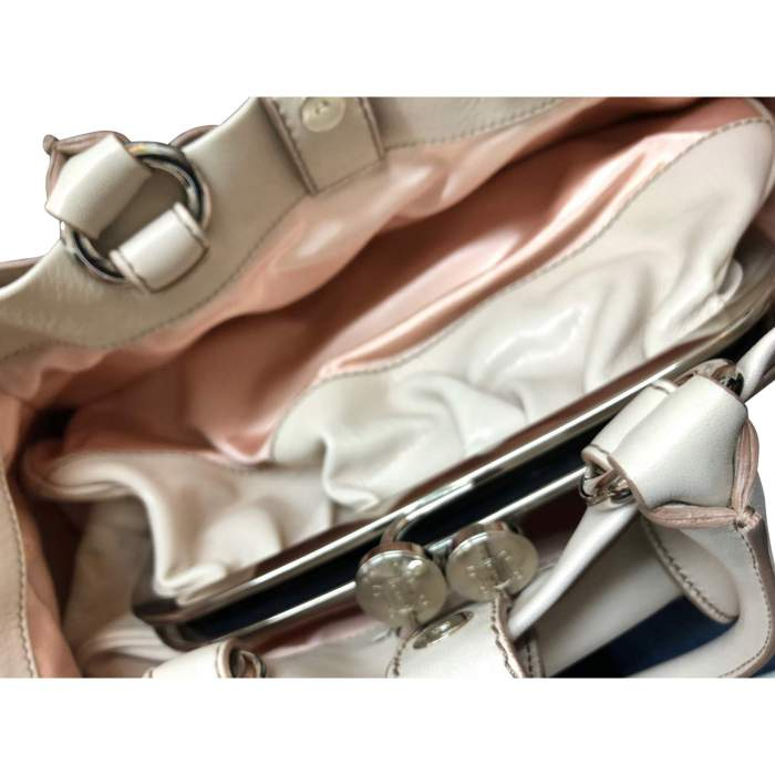 Beige leather Bag-10