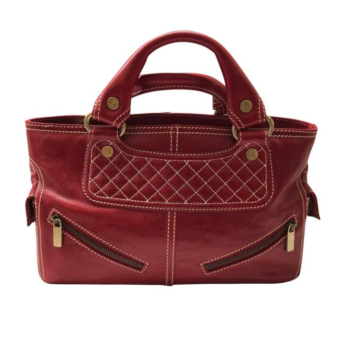 Red leather boogie Bag-0