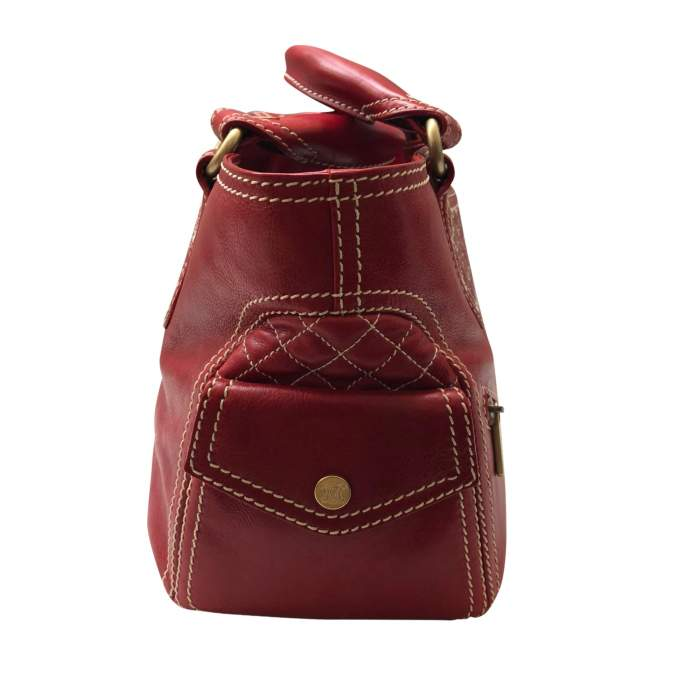 Red leather boogie Bag-4