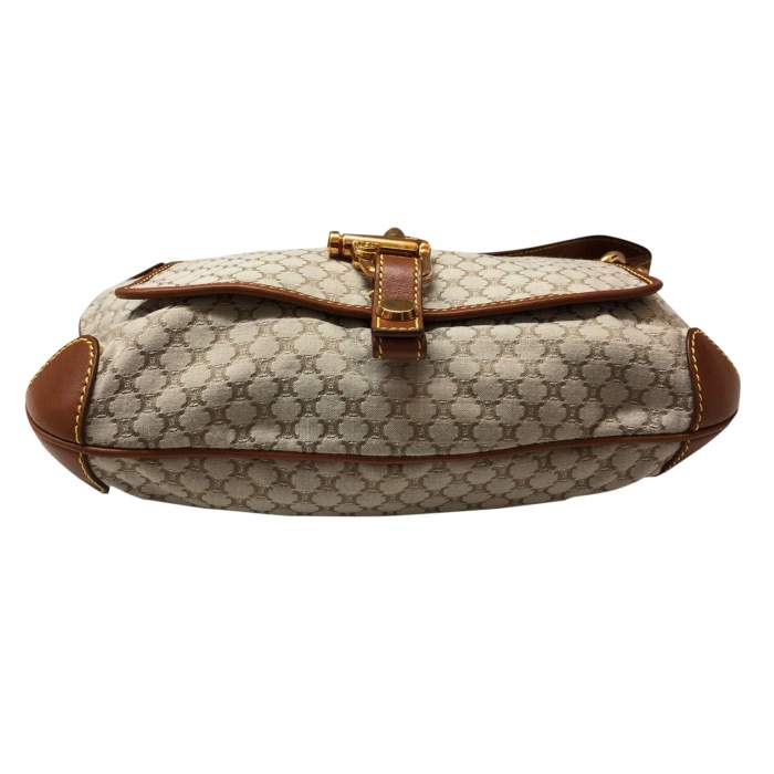 Gold leather monogram canvas Bag -6