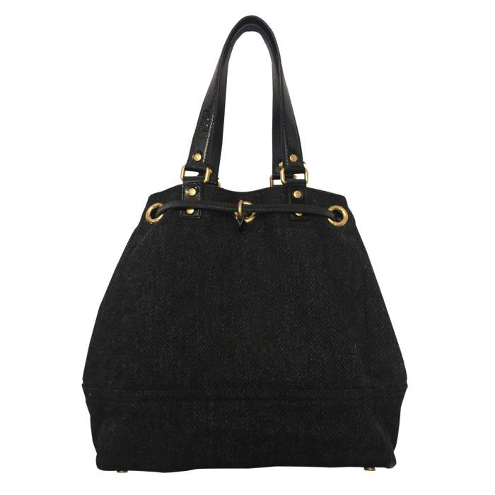Wool and patent leather Bag -2