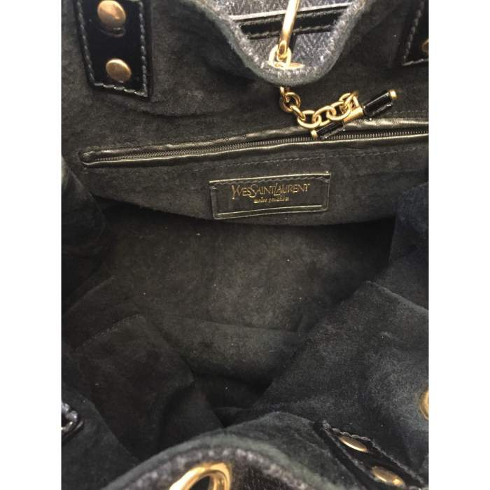 Wool and patent leather Bag -10