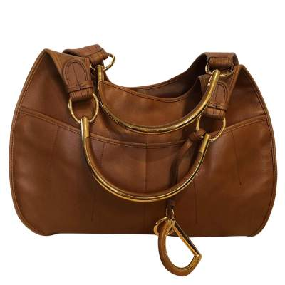 Large gold leather Bag -0