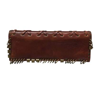 Brown leather Cluth-3