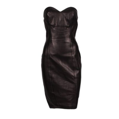 Knee-length bustier Dress-0