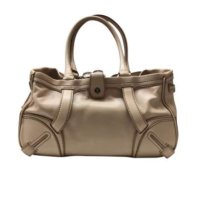 Beige leather Bag-1