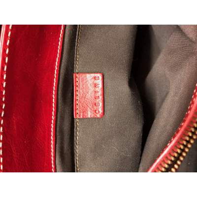 Red leather boogie Bag-11
