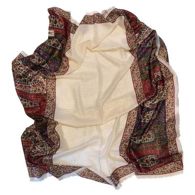 Silk and wool Scarf-5