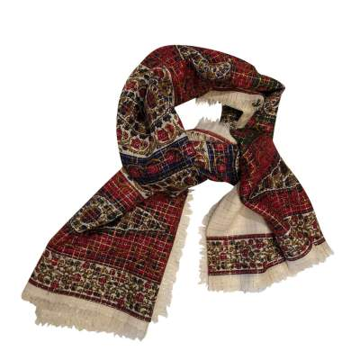 Silk and wool Scarf-1