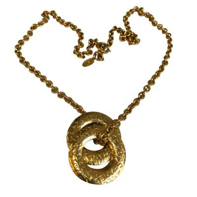 Vintage Gold metal Necklace-0
