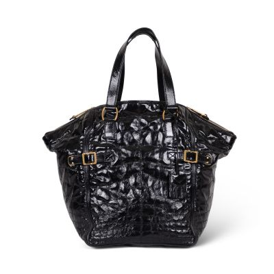 Downtown patent leather Tote -1