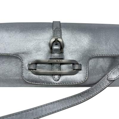 Cosmo Metallic Handbag leather baguette-9