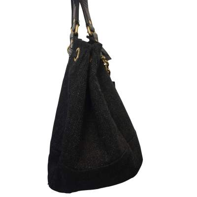 Wool and patent leather Bag -5