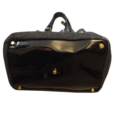 Wool and patent leather Bag -9