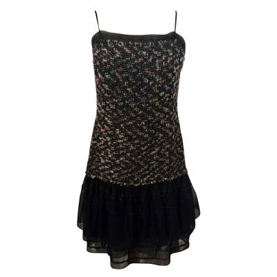 Beautiful tweed ruffle Dress-0