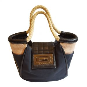 Canvas and Leather Bag-0