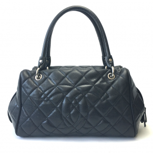 Lovely Grand Shopping tote in black caviar leather-0