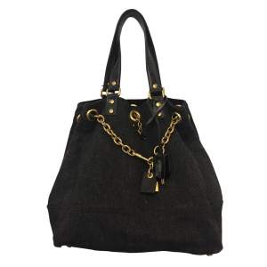 Wool and patent leather Bag -0