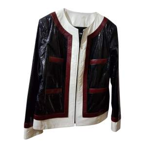 Lamb and leather Jacket-0